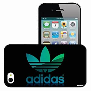 Personalized iPhone 4 4S Cell phone Case/Cover Skin Adidas soccer football soccer Black