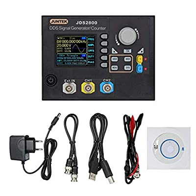 puhoon 2Channel DDS Signal Generator Counter Frequency Meter Arbitrary 15MHz JDS2800 EU
