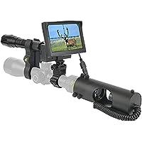 ZXYSMM Alcance monocular de visión nocturna de caza, infrarrojo de 850NM, 200 metros, dispositivo de alcance de visión…