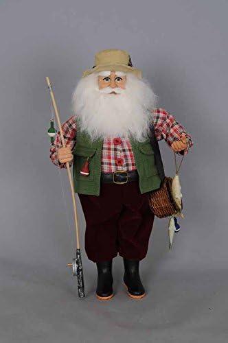 Karen Didion Fishing Santa Figurine