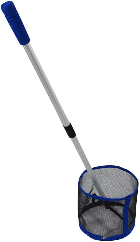 Tischtennisball-Pickup mit gro/ßer Kapazit/ät Tischtennisball-Pickup-Netz mit einziehbarem Griff bis zu 125 B/älle zeitsparender Netzball-Picker-Sammler ningxiao586 Pingpong Ball Retriever