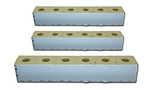 "Grodan Delta 10 Wrapped GRO-Blocks 4"" x 4"" x 4"" with Holes 18 Cubes per Pack"