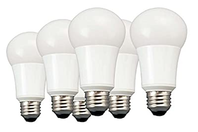 TCP 60W Equivalent, 9W LED A19 Light Bulbs, Non-Dimmable, Daylight (6 Pack)