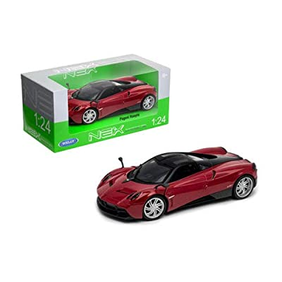 Welly Die-Cast Toys Car 1: 24 W/B - Pagani Huayra (Red) 24088W-Rd: Toys & Games