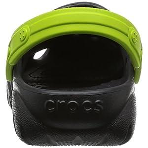 Crocs Kids' Swiftwater K Clog (Toddler/Little Kid), Black/Volt Green, C9