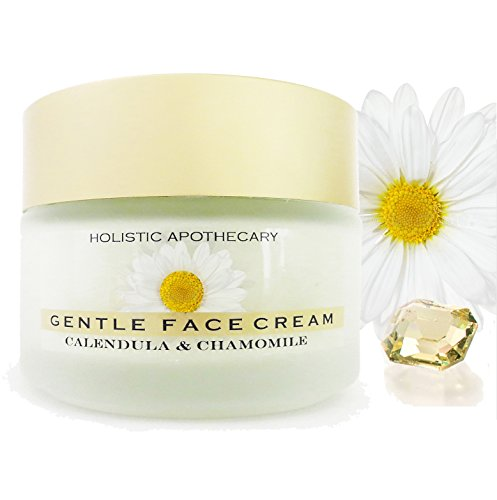 ORGANIC Calming CHAMOMILE FACE Cream For Dry, Sensitive Skin Calming Healing NEW Large Glass Jar 3.5 OZ
