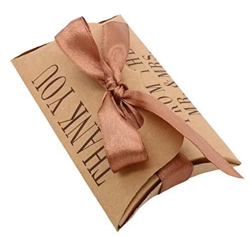 HF&M Thank You Wedding Favor Boxes. 50 Wedding Gift