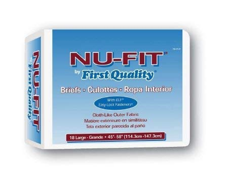 NU-Fit Adult Brief Large - Case of 72