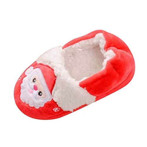 MIS1950s Toddler Infant Kids Baby Warm Snow Shoes Boys Girls Cartoon Christmas Slippers (Best Sports Headphones Uk)