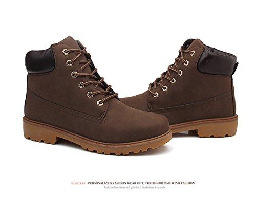 JJZXX Unisex Schuhe Premium Damen Braun Herren Herren Stiefel Stiefel Martin Wasserdichte rrwUC8q