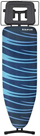 Planche /à repasser Dimensions 32 x 110 cm Taurus Argenta Black 3 positions de hauteurs jusqu/à 81cm anti-d/érapeant Support pour centrale vapeur Housse 100/% coton