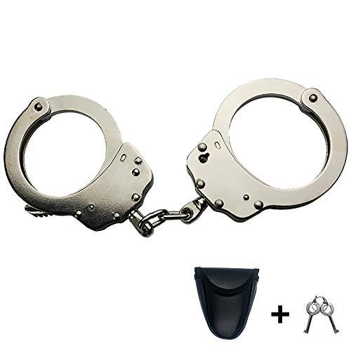 lucky clovera Real Cop Handcuffs Law Enforcement Hinged Handcuffs, Professional Grade Handcuffs