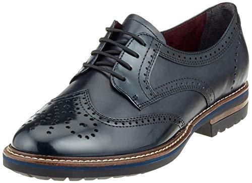 para 23736 Tamaris de Cordones 805 Azul Zapatos Mujer Brogue Navy 31 fYdrqwY