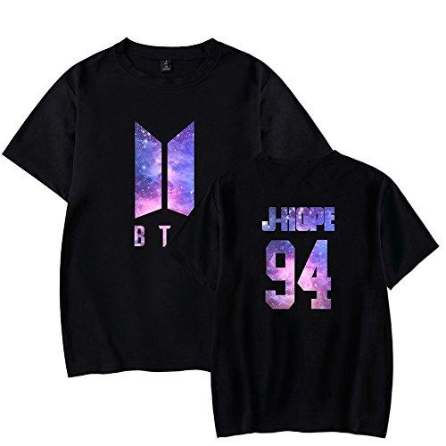 Sport Tshirt Camicie T Bangtan Rotondo Donna Black4 Forever Top Floral Corta Boys Maglietta Bts Collo Sunvool Young shirt Kpop Bluse Bloom Manica Estive qZpUa