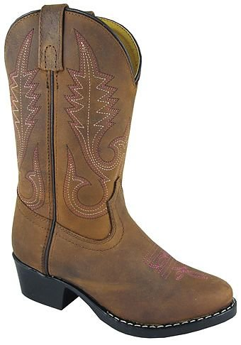 Smoky Mountain 3531 Youth Annie Western Boot Brown