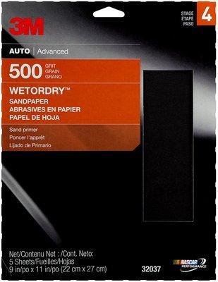 3MTM WetordryTM Sandpaper, 32037, 600 Grit, 3 2/3 inch x 9 inch