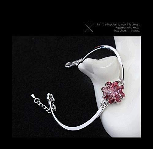 Women Elegant Leng Elegant Pretty Bracelet Stylish Luxury Elegant Extravagance Ornaments Crystal Bracelet(Rosy)