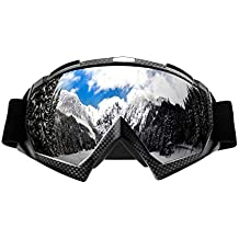 Atv goggles,Motocross Goggles Motorcycle Dirt Bike Ski Goggles Windproof Scratch Resistant Combat Goggles Adjustable UV Protective Safety Outdoor Glasses for Cycling,Climbing,etc