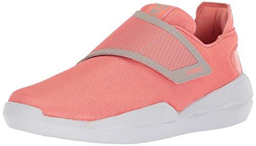 K-Swiss Women's Functional Strap Sneaker, Burnt Coral/Silver Cloud/White, 8.5 M US Burnt Orange Classic Mesh