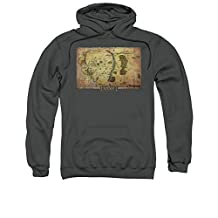 The Hobbit Desolation of Smaug Movie Middle Earth Map Adult Pull-Over Hoodie
