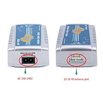EV-Peak 35W 3A AC Input 100-240V 2S 3S 4S LiPo Battery Charger for 7.4v 11.1v 14.8v LiPo Battery: Toys & Games