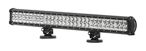 28 Inch LED Light Bar – 180W Slim Waterproof Universal Mount Off Road Vehicle White Flood Lights w/Mounting Brackets Outdoor Emergency Vehicles Automotive Car Marine Boat ATV – Pyle PCLED28B180