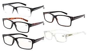 Eyekepper Spring Hinges Vintage Reading Glasses Men Readers(One for each color,+1.75)