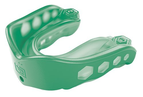 Shock Doctor Gel Max Convertible Mouth Guard, Green, Adult Pro Mouth Guard Strapless