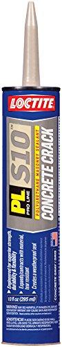 Loctite 1618522-12 PL S10 Polyurethane Concrete Crack and Masonry Sealant, 10 Ounce Cartridges, Case of 12, Gray