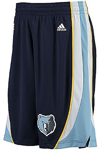 Adidas Memphis Grizzlies Navy Embroidered Swingman Basketball Shorts (XL=38-39)