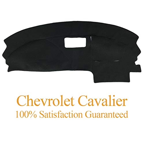 Yiz Dash Cover Dashboard Cover Mat Carpet Pad Fit for Chevy Chevrolet Cavalier 1995-2005 (Black)