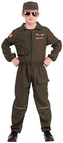 Forum Novelties Fighter Jet Pilot Child Costume, -