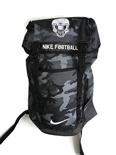 Football Backpack - NIKE Max Air Top Fill Football Backpack Camo Grey