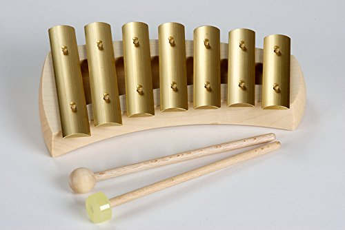 AURIS KPQ GLOCKENSPIEL-7 NOTE PENTATONIC CURVED BODY PURE 5TH TUNING by Auris