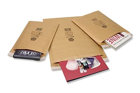 Jiffy Airkraft Lightweight Postal Bag for Desk Dairies Box of 50 - Size 3, Gold, 220 x 320mm Antalis Packaging JL-GO-3