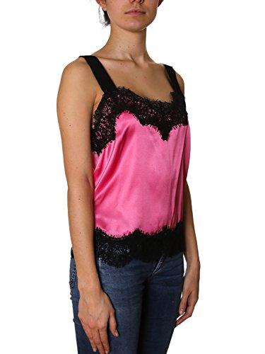 Pinko Top Donna 1G12WMY443NZ9 Seta Nero/Rosa