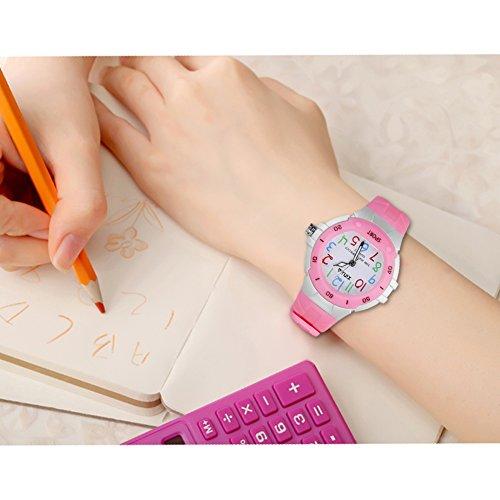 116 Kids Watch 30M Waterproof,Children Cartoon Wristwatch Child Silicone Wrist Watches Gift for Boys Girls Little Child – PerSuper (Pink) by PERSUPER (Image #4)
