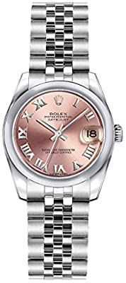 Rolex Lady-Datejust 26 179160 Pink Dial Womens Watch