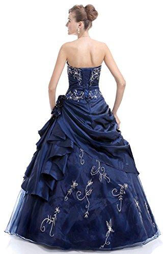 Trägerlosen Kleid Formale Ballkleid Prom Langen Wulstige Blau Damen Kmformals qEwT1zR
