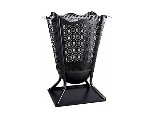 Gardeco BRAZIER8-MESH1 Delphi Flower Brazier Decorative Mesh - Black China