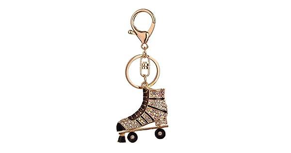 Amazon.com: Moda Rhinestone patines colgante llavero ...