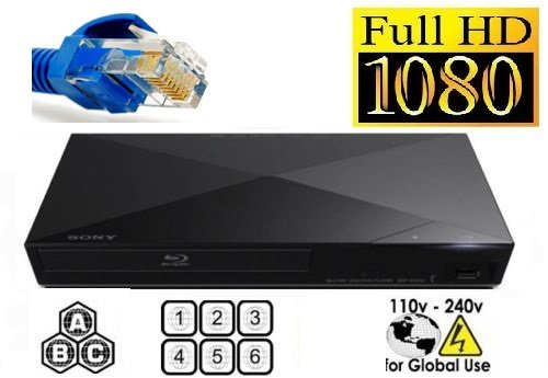 SONY S1700 Multi System All Region CodeFree Blu Ray Disc DVD Player - PAL/NTSC - USB - 110-240V 50/60Hz - 6 feet HDMI Cable Included