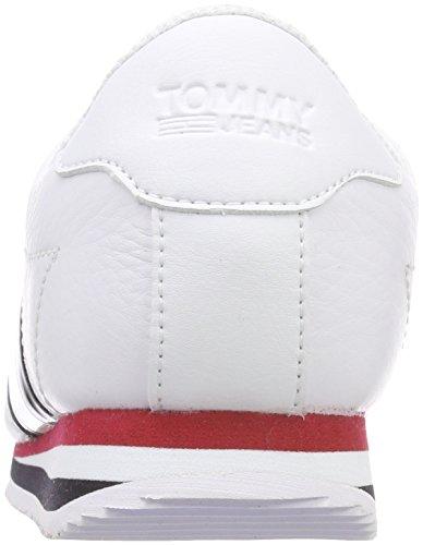 Hilfiger Denim Jeans Dames Tommy Retro Vlag Sneaker Wit (wit 100)