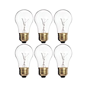(Pack of 4) 60A15/CL - 60-Watt A15 Incandescent Appliance Bulb - Clear Finish - Medium (E26) - Standard US Size Household Base 60W 17