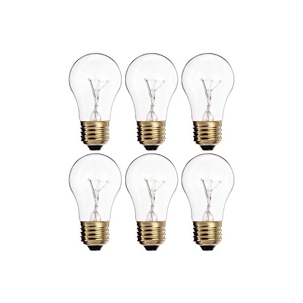 (Pack of 4) 60A15/CL - 60-Watt A15 Incandescent Appliance Bulb - Clear Finish - Medium (E26) - Standard US Size Household Base 60W 1
