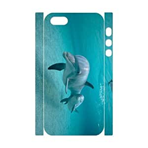 LZHCASE Diy Customized Case Dolphin 3D Case for iPhone 5,5S [Pattern-1]