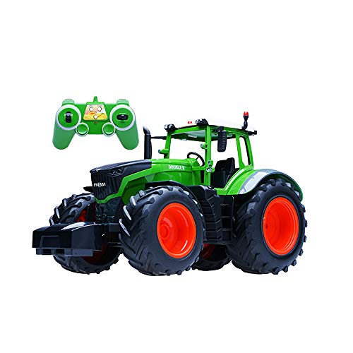 - SOWOFA 1:16 Scale Giant RC Farmer Tractor Excavator Truck w/ Light Sound Classic Detachable Accessories Electric Remote Control Farm Engineering for Child boy Gift (Original Boxing Packing)
