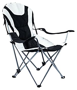 Ming s Mark 36028 Foldable Reclining Camp Chair – Black Gray