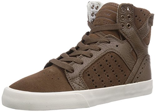 Bone Top Brogue Women's Brown Womens Sneakers Brb Supra Skytop Hi Brown Braun v4FwcCq
