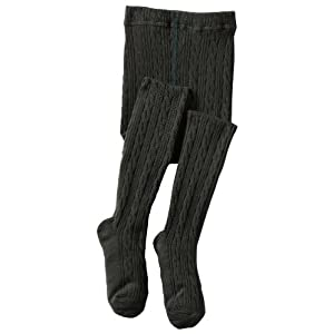 Jefferies Socks Little Girls' Cable Tight 1 Pack